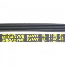 Приводной ремень 1108 J5 длина 1067 мм черный J108